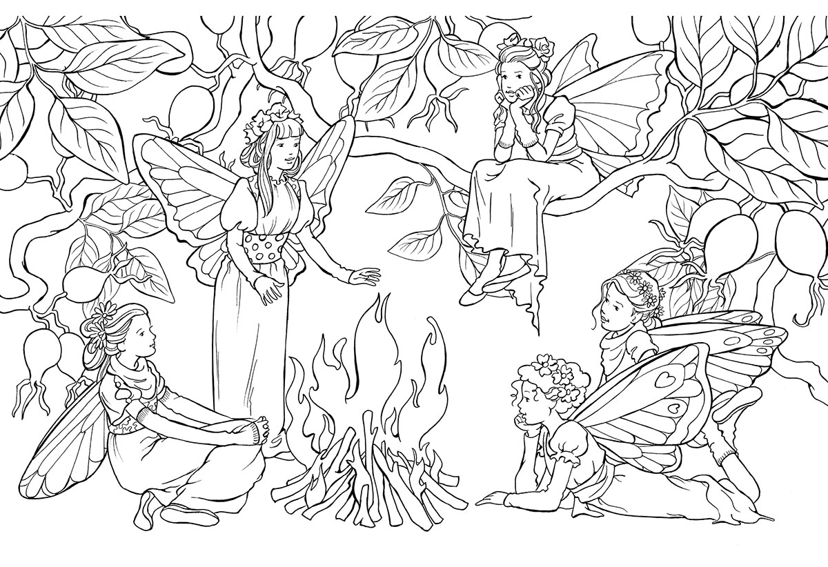 Сказочные феи. Раскраска