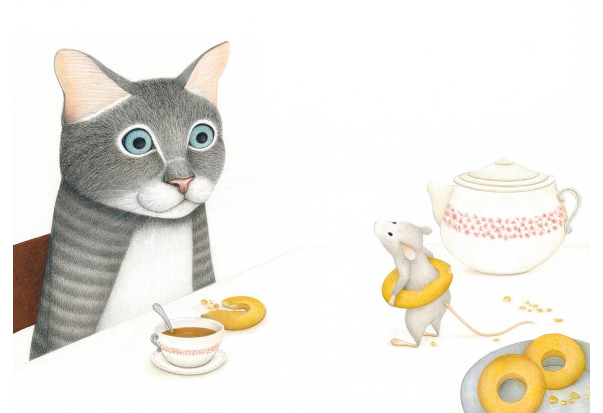 Полосатый кот и Таинственная мышь. Сказка